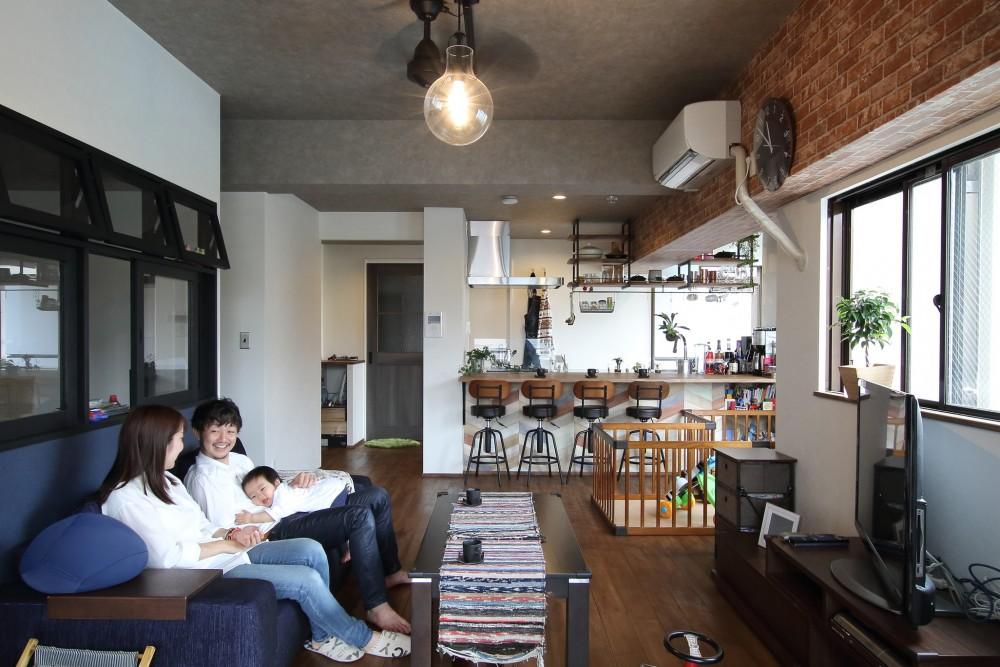 マンションとは思えない開放感。おしゃれなカフェ風のお家